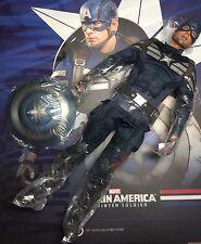 Hot Toys MMS 243 Captain America 2 Winter Soldier 1/6 Captain America Figure