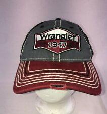 Wrangler 1947 Maroon Gray Cap Distressed Hat