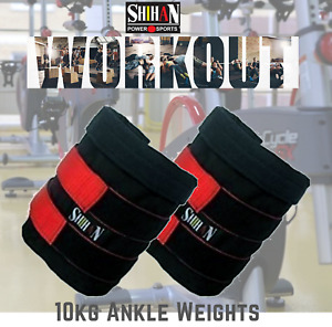 Ankle Weights Pouch 10kg Sand Bag Capacity Adjustable Sold WITHOUT Weights 1PAIR