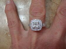 VERA WANG LOVE COLLECTION 1.5 CTW PRINCESS DIAMOND ENGAGEMENT RING 14KWG 5.75