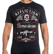 AFFLICTION AMERICAN DEFENDER MILITARY AR15 T-SHIRT SIZE MEDIUM, BRAND NEW W/TAGS