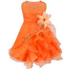 Flower Girl Birthday Party Princess Wedding Bridesmaid Pageant Formal Tutu Dress
