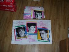 New Kids on the Block NKOTB 1990 Pillow Case & Fitted Twin Bed Sheet New