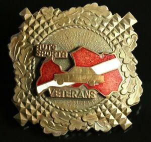 Rare ORIG. LATVIA Veteran of MOTORSPORTS № 33 Screwback Badge #914