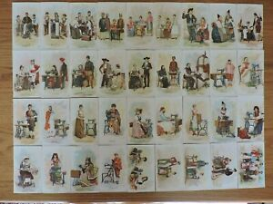 Complete set of 36 Singer Sewing Cards from Chicago Columbian Exposition of 1893