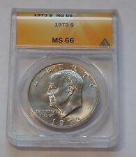 1973 Eisenhower IKE Dollar  * ANACS MS 66