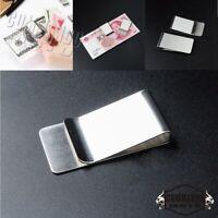 Stainless Steel Money Clip Silver Metal Pocket Holder Wallet Credit Card Slim