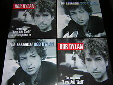 4 BOB DYLAN PROMOTIONAL 12X12 CARDS - LOVE AND THEFT/THE ESSENTIAL