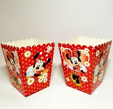 Minnie Mouse Party Boxes Popcorn Boxes Minnie Chamomile Set of 8 Popcorn Bags