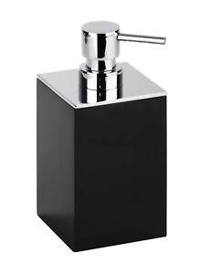 Brillantbad MAX Seifenspender freistehend schwarz silber 75 x 160 x 86 Chrom