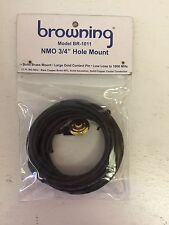 """Browning Nmo 3/4"""" Hole Mount Br-1011 17 ft Solid Brass Mount Large Gold Pin"""
