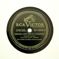 "GLENN MILLER ORCHESTRA ""Swing Low Sweet Chariot"" (EE+) RCA VICTOR 20-1834 [78]"