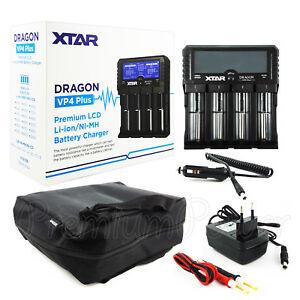 XTAR Dragon VP4 Plus Charger Premium LCD for Li-ion Ni-MH batteries 18650 USB