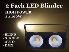 2 volte cieca COB LED 2x 100w BIANCO bianco caldo illuminazione dello stage DMX Icon GERMANY