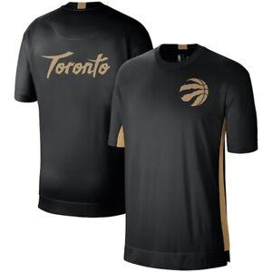 Toronto Raptors Nike City Edition Shooting Performance T-Shirt Black/Gold XL