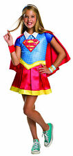 Kids Supergirl Deluxe Costume DC Superhero Girls Costume Size Small 4-6