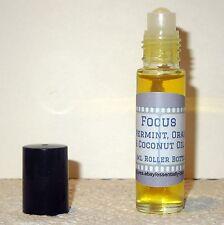 Focus Essential Oil Blend 10ml Rollerball - Improves Mental Clarity & Alertness