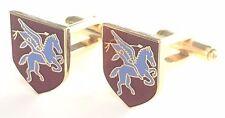 Pegasus Airbourne Military Enamel Crested Cufflinks (N29)