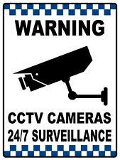 REFLECTIVE, WARNING CCTV CAMERAS 24/7 SURVEILLANCE 3MM ACM