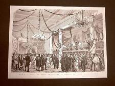 Roma nel 1877 Carnevale Ballo in costume al Circolo Artistico Internazionale