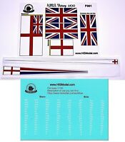 Heller HMS Victory 1:100 - set of flags and Draft scales for model by Heller