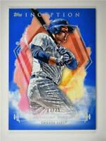 2019 Inception Base Blue #90 Anthony Rizzo /25 - Chicago Cubs