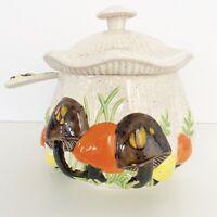 Vintage Mushroom Soup Tureen Arnel's With Lid And Ladel MCM