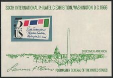 Scott 1311- MNH S/S- SIPEX, Sixth Int'l Philatelic Exhibition- 5c 1966- unused