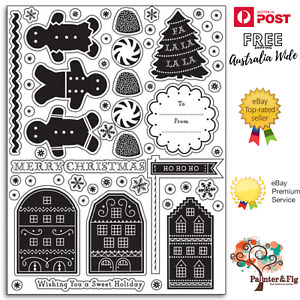 Gingerbread House Stamps - Christmas Tree, Lollies, Snowflakes - Martha Stewart