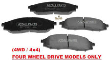 FOR NISSAN NAVARA D22 4WD 2.5TD 02 03 04 05 06 07 08 FRONT BRAKE PADS SET 4x4