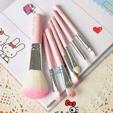 New Hello Kitty 7 Pcs Mini Makeup brush Brushes Foundation Hair Tool up Make