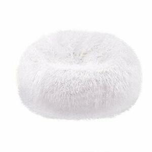 1 Pc Luxurious Fully Furry Velvet Bean Bag Cover / Sitting Sofa (without Beans)