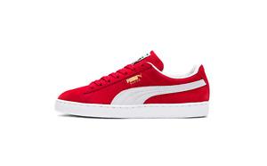 Puma Suede Classic + Plus Retro High Risk Red White Black 352634 65 Size 8-13