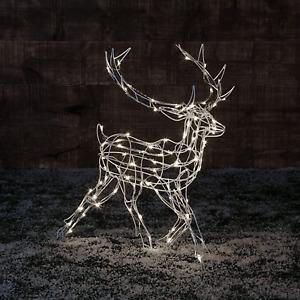 Dawsons Living LED Pre-Lit Reindeer Indoor/Outdoor - Light Up Christmas Reindeer