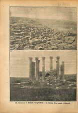 Palestine El-Salt City Ruins Temple Djérach Jerash Gerasa WWI 1918 ILLUSTRATION