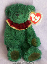 Ty Attic Treasures Laurel Happy Holly Days Green Jointed Bear w/Tags