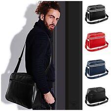 Mens Womens Retro Bag Faux Leather Satchel Messenger Briefcase Shoulder Record