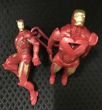 2 Iron Man Action Figures - Torch & Keyring Marvel Heroes