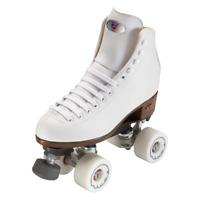 Riedell 111 - women's White Angel Roller Skate package - 96a Rink setup