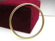 Ladies 14ct 9ct Yellow Gold GF Golf Solid Design Bangle Bracelet 5mm 60mm