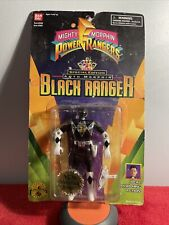 Vintage 1993 Bandai Mighty Morphin' Power Rangers Auto Flip Black Ranger Figure