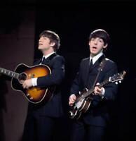 OLD PHOTO John Lennon and Paul McCartney of The Beatles circa 1964