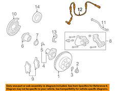 Infiniti NISSAN OEM 02-06 Q45 ABS Anti-lock Brakes-Rear Speed Sensor 47900AR200