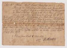 1751 James Scott Land Grant Survey by George Washington for Lord Fairfax