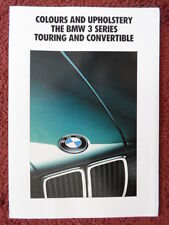 BMW 3 Series Touring & Convertible 1991 UK Mkt Colours & Upholstery brochure E36
