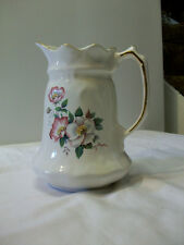 "Vintage ""Wild Briar Rose"" Ceramic Pitcher by House of Webster in Eastland, TX."