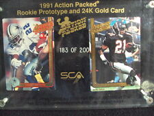 1991 ACTION PACKED ROOKIE PROTYPE EMMITT SMITH/D. SANDERS