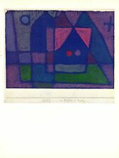 "1967 Vintage PAUL KLEE ""SMALL ROOM IN VENICE"" FABULOUS COLOR offset Lithograph"