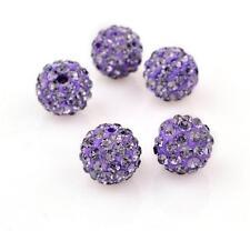 Wholesale Lot 20 Pcs Round Pave Disco Balls  Crystal Beads 10MM