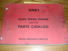 isuzu diesel engines isuzu 6rb1 parts catalog manual book engine diesel guide spare part list esp 123